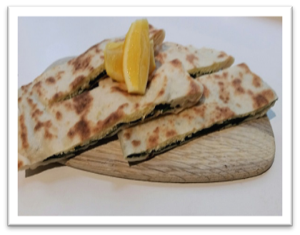 Cheese and Spinach Turkish Flatbread